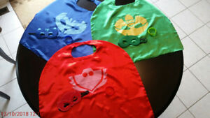 PJ MASKS - CAPES, MASKS AND WRIST BANDS FOR ALL THREE CHARACTERS