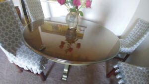 Dining Table with Original Glass Top