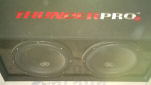 Subwoofers mtx thunderpro2 with mtx amp