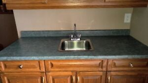 """60.5"""" Countertop with Bar sink and bar faucet"""