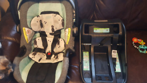 Safety 1st infant car seat and base and as sit me up chair.