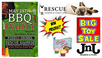RESCUE SIAMESE 3RD ANNUAL BBQ and HUGE toy sale!
