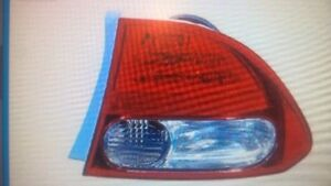 Honda Civic Passenger Side Tail Light Unit