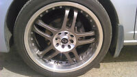 emr split 5 spoke rims with tires & spline lug nuts w/ key $575