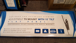 Tilt wall mount for flat screen tvs