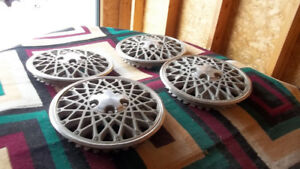 "Vtg.Hubcaps..Old..GM 13""..$40 For 4!"