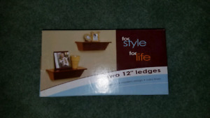 Two 12 inch wall ledges