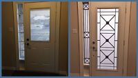 WROUGHT IRON & STAINED GLASS DOOR INSERTS