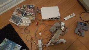 console wii avec 5 jeux