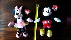 Toutou Mickey et mini mouse