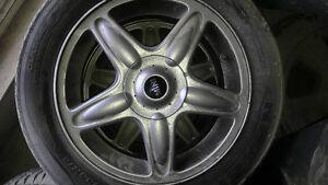 Mini cooper rims and tires 205 55 16