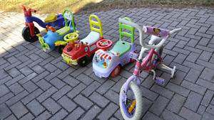 Bike and riding Todd for Toddler to 4 year-olds