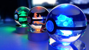 3D Pokemon in crystal pokeball - your choice