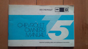 1975 Chevrolet Full Size Owners Manual