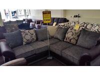 Corner fabric sofa grey £449