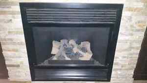 Magestic direct vent natural gas fireplace