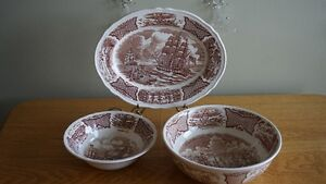 Meakin Transferware Dishes Vintage