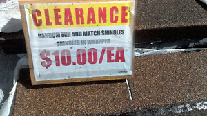 $10/bundle CLEARANCE Roofing