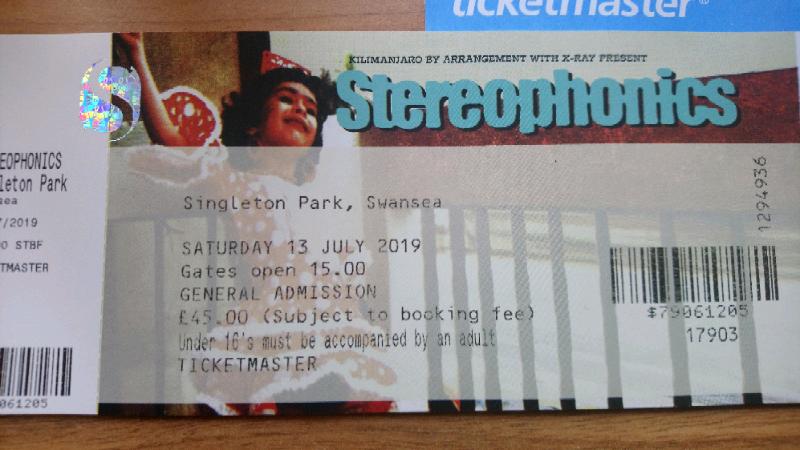 Stereophonics tickets X2  Swansea  13 7 19 | in Haddington, East Lothian |  Gumtree