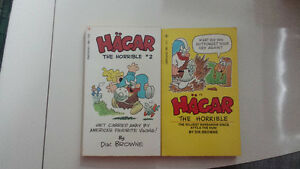 Dik Browne Hagar the Horrible #1, 2 Tempo First paperback