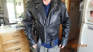 Leather motorcycle jacjet