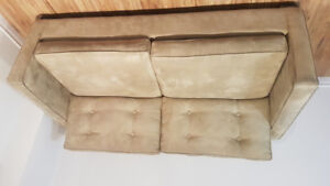 Microfiber Beige Couch