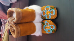 Handmade baby moccasins