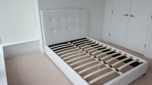 BRAND NEW! #206 Double size White Faux Leather Bed Frame