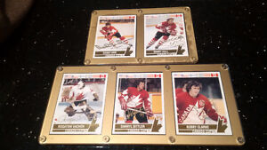 Orr-Hull-Sittler-Vachon-Clarke Autographed 1976 Canada Cup Cards