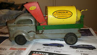 Lincoln toys pressed steel cement mixer