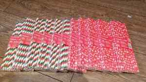 NEW Christmas straws 20/pkg