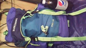 EUROHIKE LARGE BACKPACK FOR HIKING OR CAMPING HIKE 501 Stratford Kitchener Area image 3