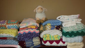 Baby Blankets, Afghans, Cardigans and Booties