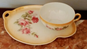 Fine china luster rose cup with sandwich cake plates  Japan