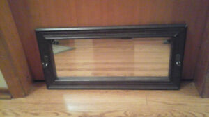 Antique style mirror with 2 hooks