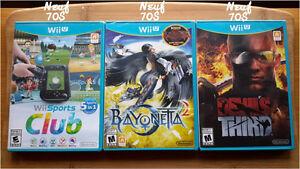 Jeux Wii U en excellente condition.