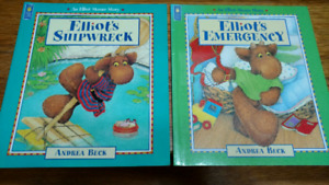 2 Elliot Moose Story children's picture books by Andrea Beck