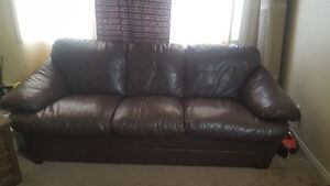 2 piece of leather sofas