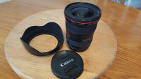 Canon 17-40 wide angle f/4 L series red ring lens