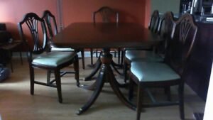 Dining set table chairs buffet glass protection key pads inserts