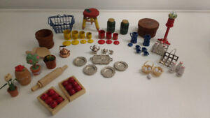 Miniature Dollhouse and Vintage Barbie/Doll Accessories