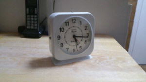 Westclox metal clock with alarm