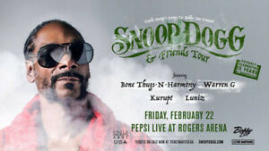 3 Snoop Dogg Tickets (Vancouver) For Sale - $450 for 3 tickets