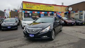 2014 HYUNDAI SONATA LIMITED 2.0T LOADED BLACK ON BLACK WITH ONLY
