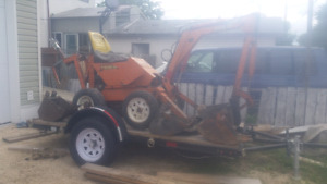 Powerful 125 digger and trailer