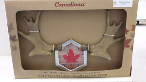NEW Canadiana antler wall plaque
