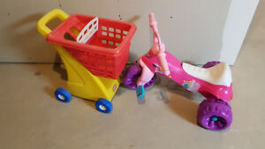 Barbie Tricycle and Grocery Cart Toy