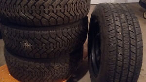 225/60R16 Goodyear Nordic Winter Tires on Rims