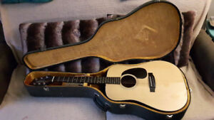 1981 Takamine Acoustic Guitar With Electric Pick Up