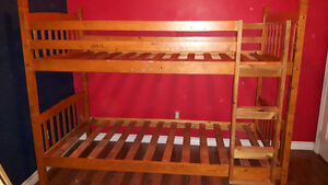 bunk bed. solid wood
